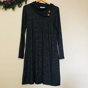 Chris & Carol Cowl Neck Sweater Shift Dress Size M